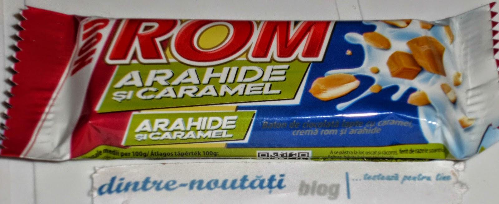 ciocolata rom cu arahide alune si caramel