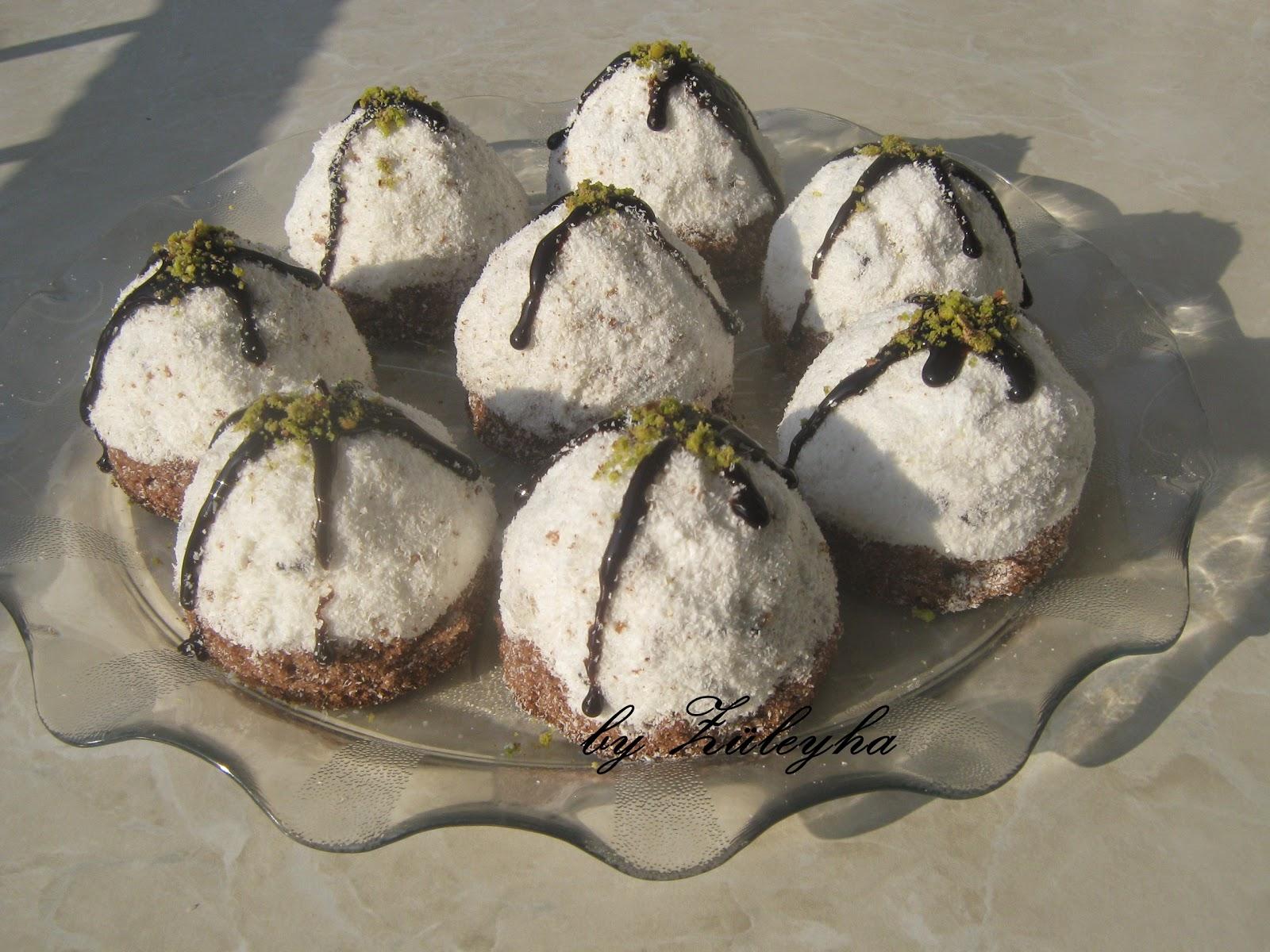 Hindistan cevizli köstebek pasta,köstebek pasta,pasta,muzlu,hindisyan cevizli