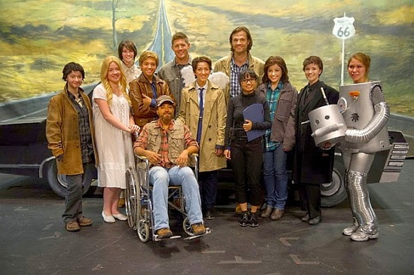 Los actores del episodio 200 de Supernatural, titulado 'Fan Fiction'