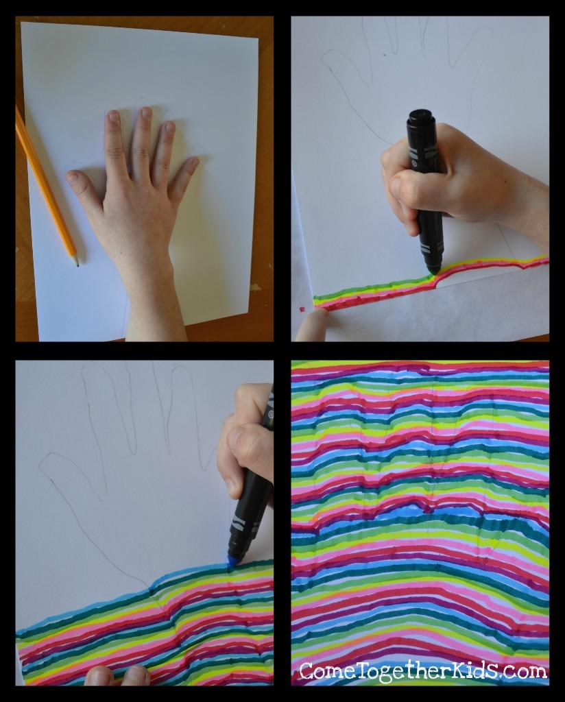 Come Together Kids: Optical Illusion Handprint