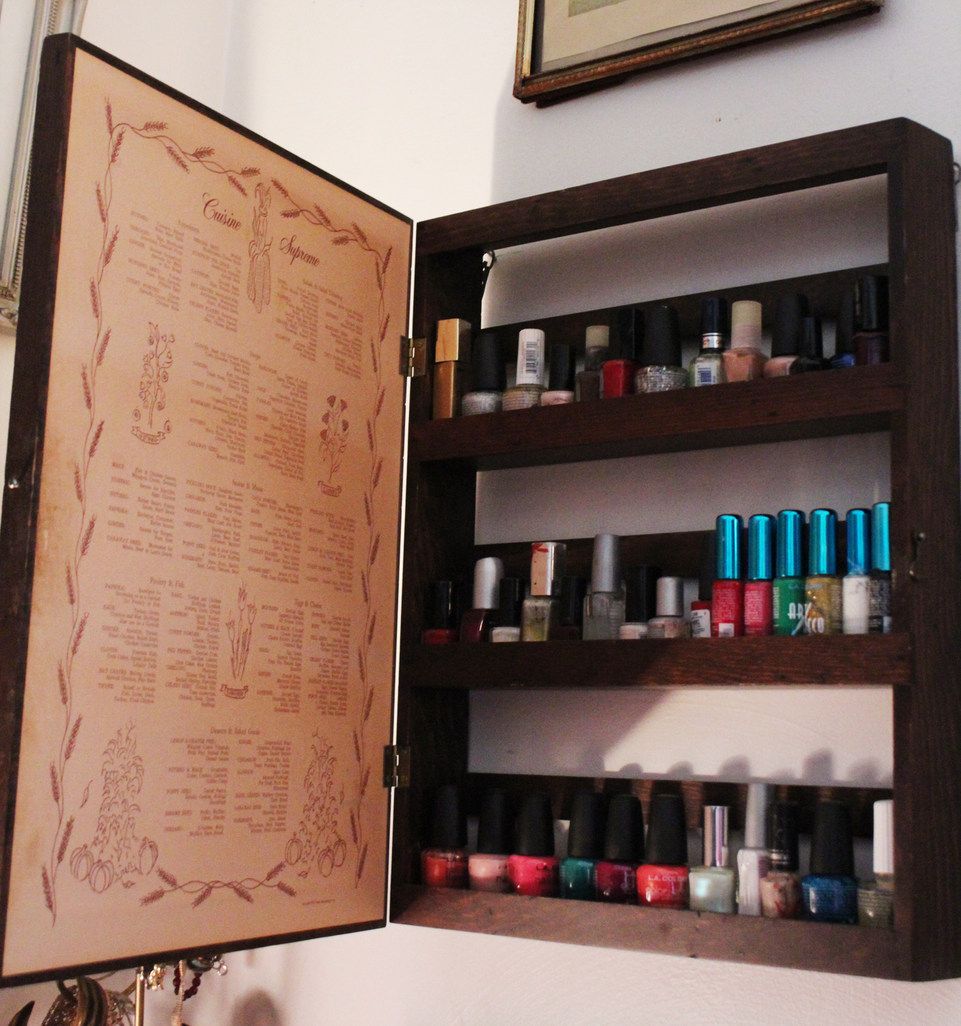 Thrift Trick: Nail Polish Cabinet DIY...and dressing room makeover!