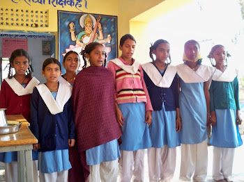 INDIA: School girls that sang a beautiful song/greeting of friendship that has been used by the com