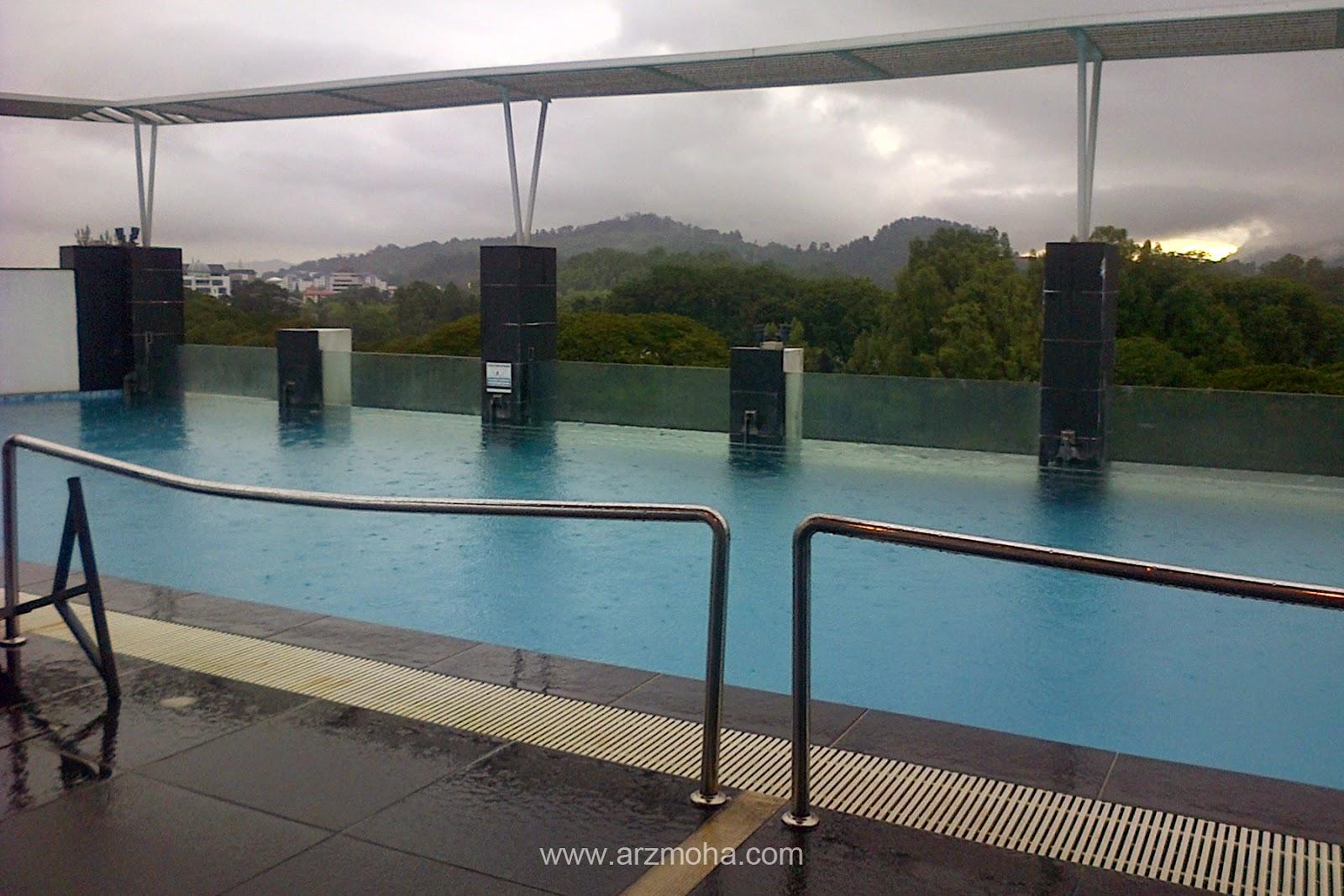 Visit taiping, Flemington Hotel, Visit Malaysia, gambar cantik, Swimming pool, raining