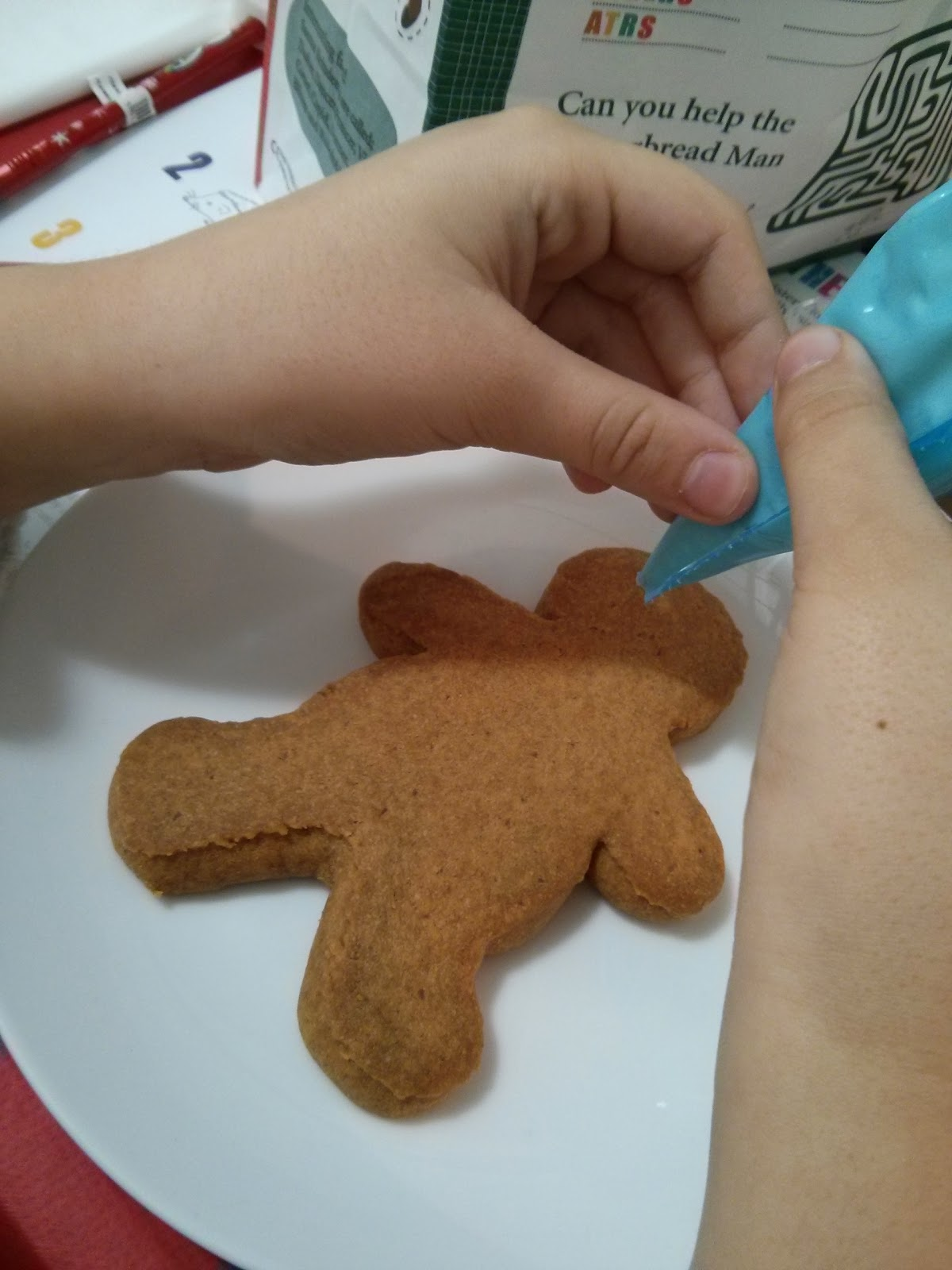 Top Ender Decorating her Gingerbreadman