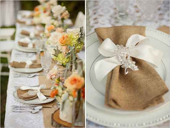 raising a nice trend of rustic decoration burlap lace table setting decoration can be stunning deal ever & Rustic Theme Wedding Table Decoration Ideas | WEDDING SHOES DESIGN