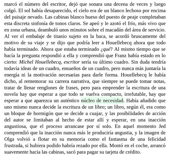Michel Houellebecq: El mapa y el territorio (pp.222-223)