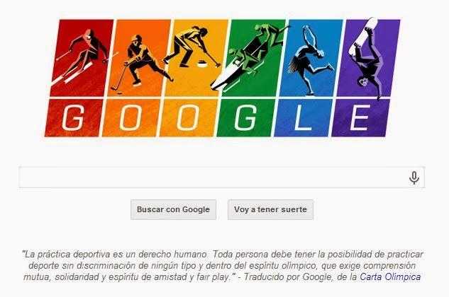 Google se opone a la homofobia en Rusia, juegos de invierno de Sochi
