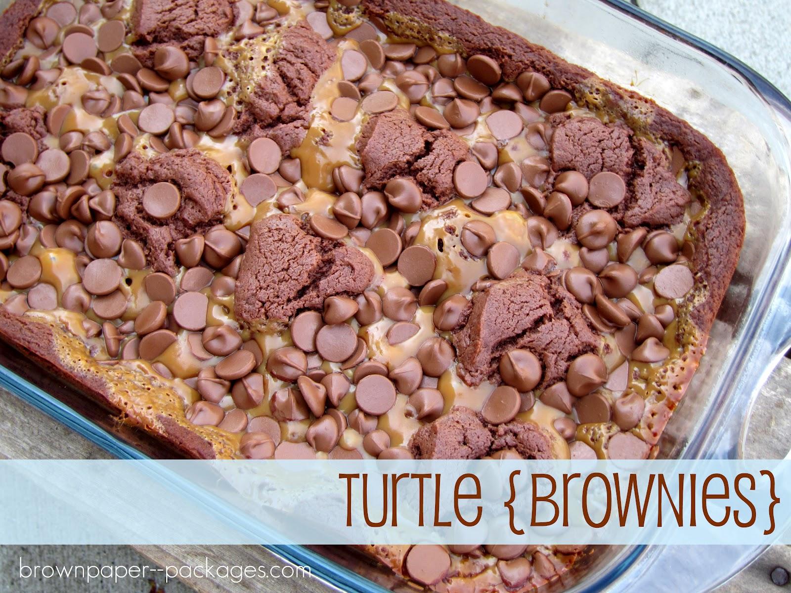 brown paper packages: {turtle brownies}