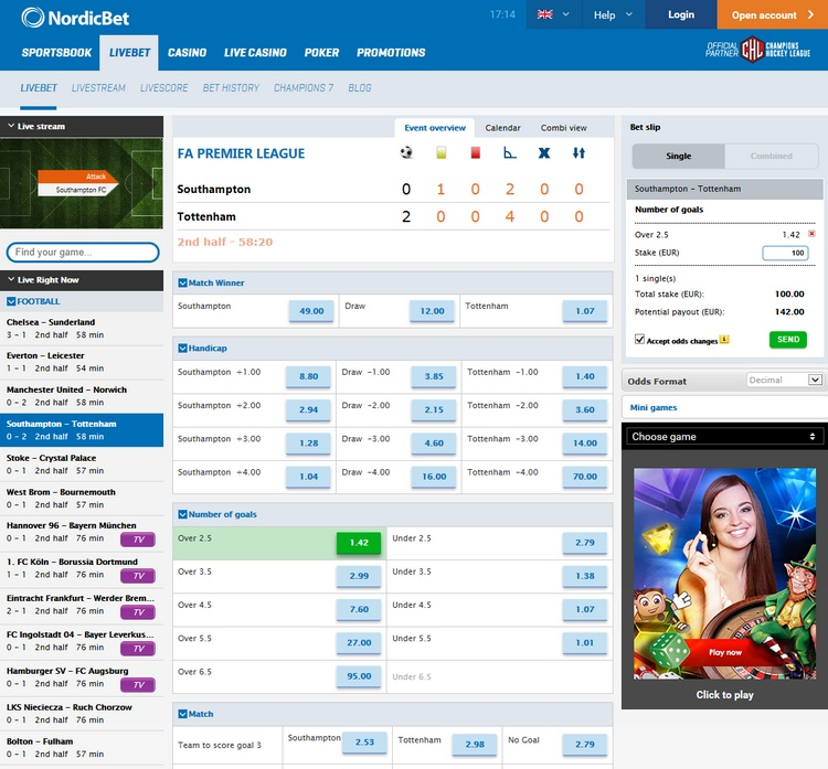 Nordicbet Live Betting Offers