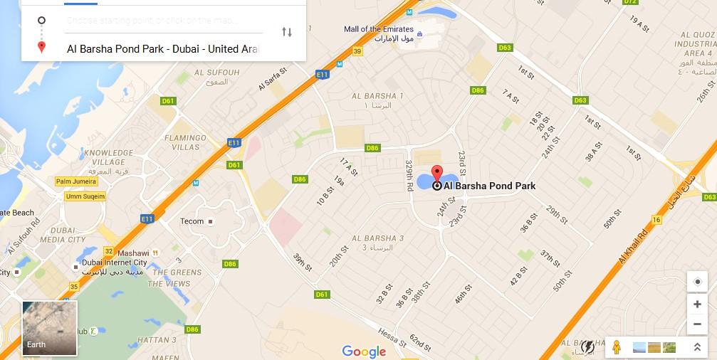 Al Barsha Pond Park Dubai Map Dubai Tourists Destinations and – Dubai Tourist Attractions Map