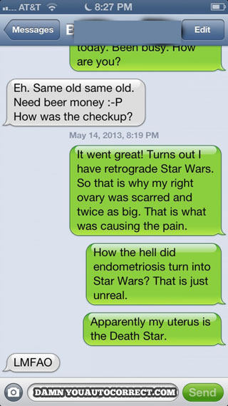 Star Wars in my uterus, endometriosis