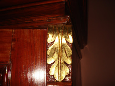 Reconditioned Wardrobe- Gold Plated Leaf