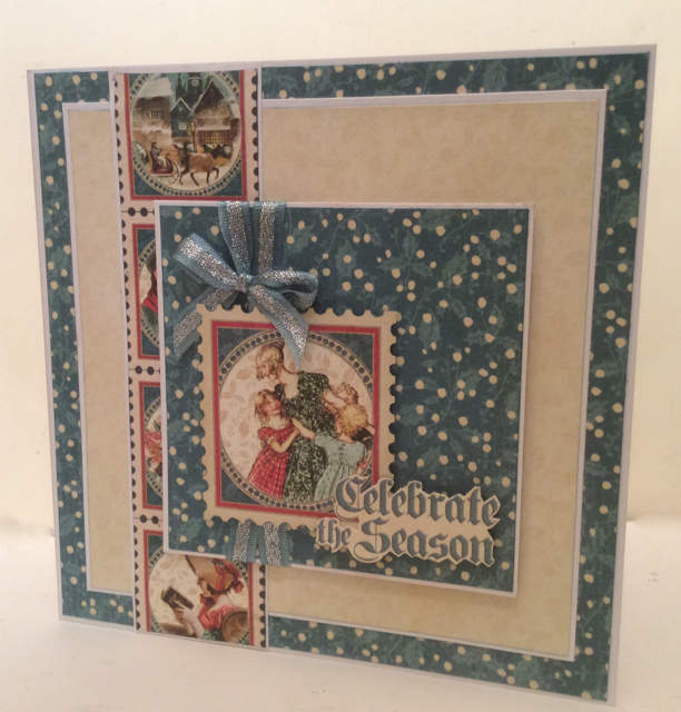 Christmas Carol Card Clare Charvill Graphic 45