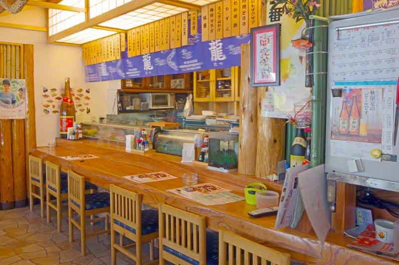 sushi bar, sake,counter,chairs