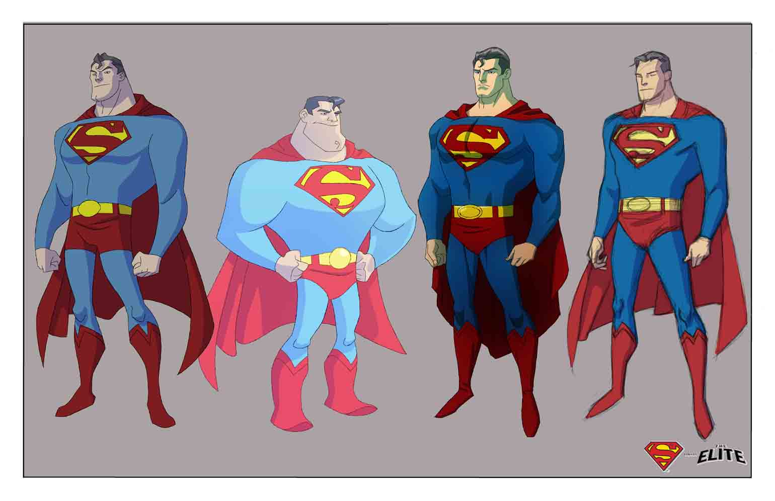 Character Model Superman Variations By Jon Suzuki