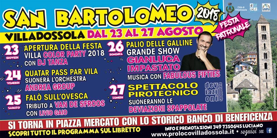 San Bartolomeo 2018