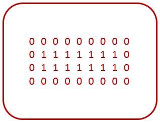 C program binary rectangle pattern