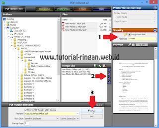 Simpan PDF Gabungan