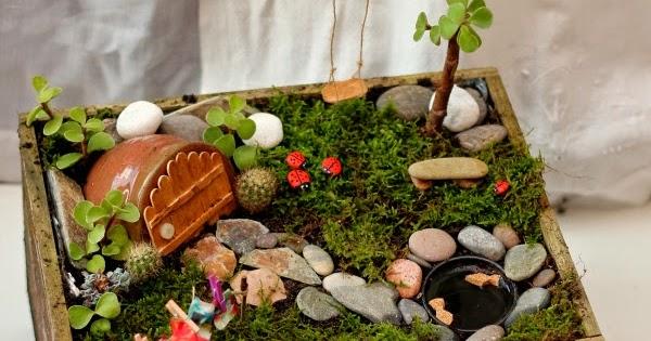Diy c mo hacer un jard n de hadas fairy garden con una for Un jardin con enanitos