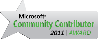 Microsoft Community Contribution 2011