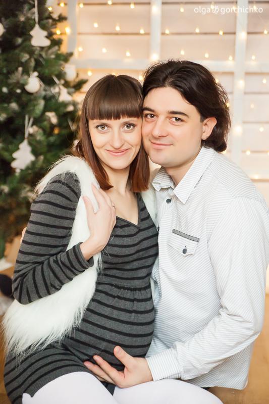 Новогодний фотопроект Морозные узоры. Фотосессия беременности