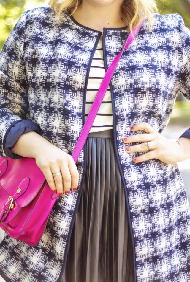 how to wear a plaid jacket