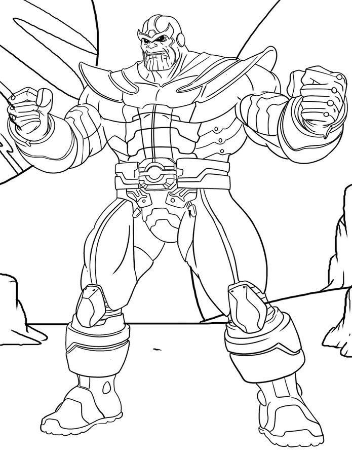 Avengers Ausmalbilder Zum Drucken: Thanos Zum Ausmalen, Nachmalen