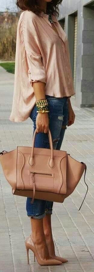 Street styles blush outfit