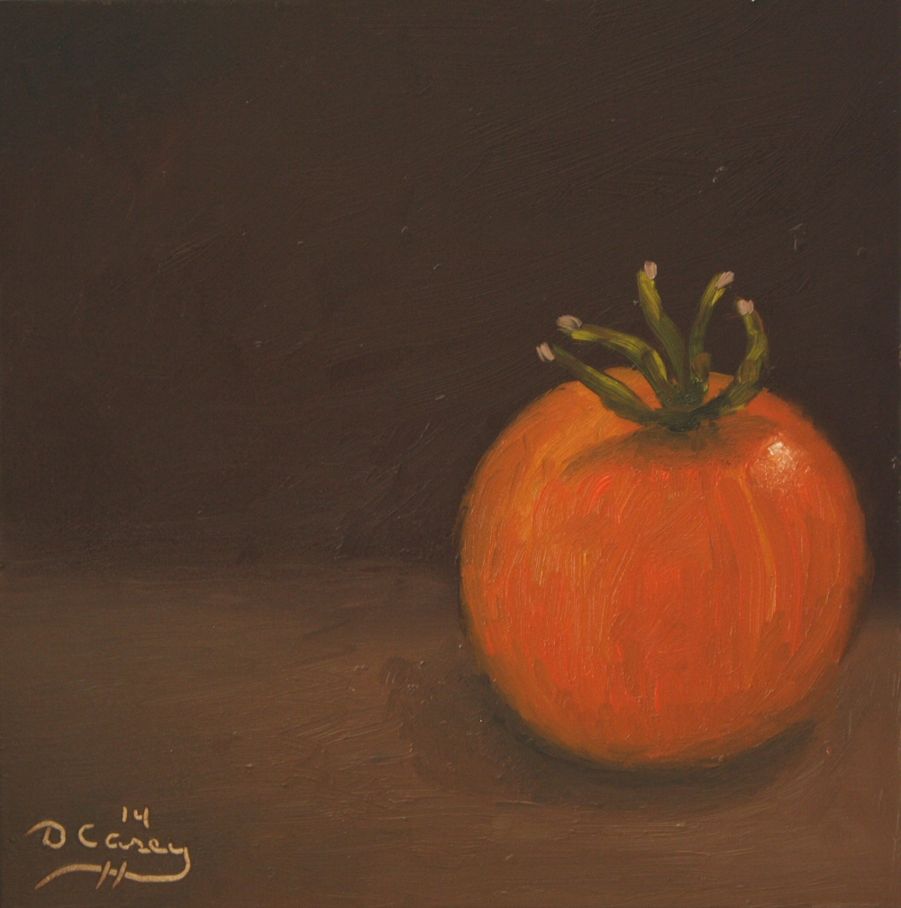 Kitchen Painting - Cherry Tomato 001a 6x6 oil on gessobord - Dave Casey - TheDailyPainter.jpg