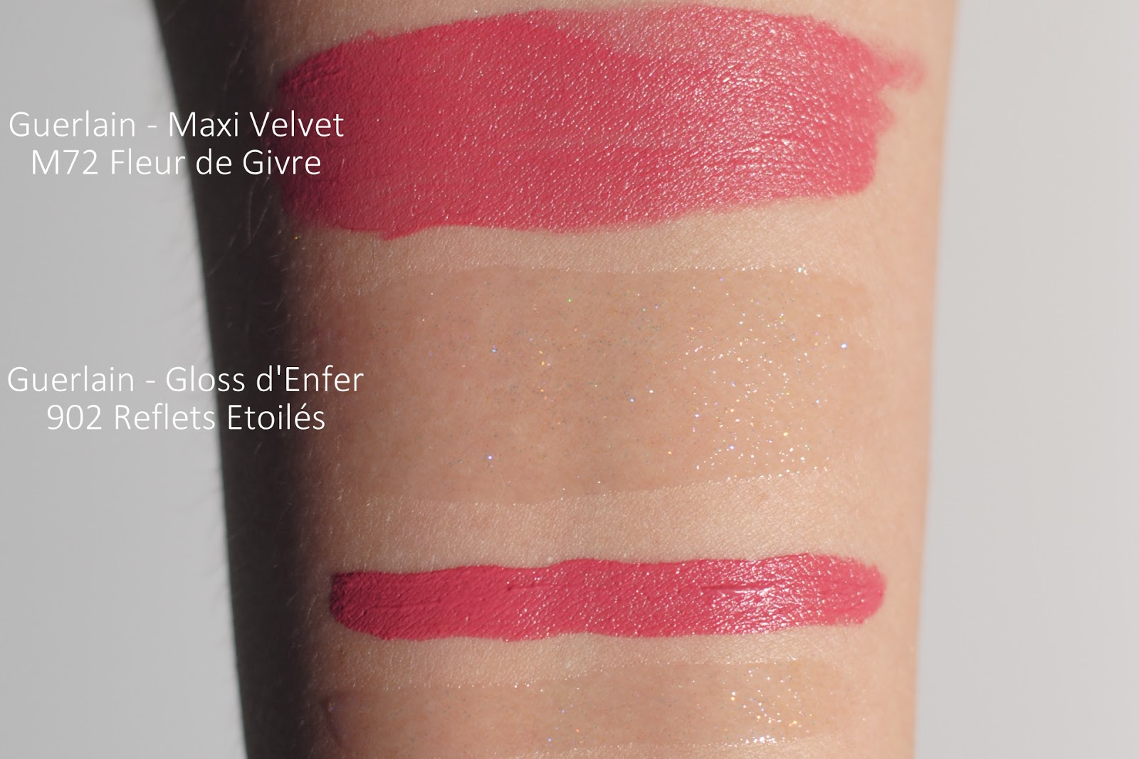 guerlain neiges merveilles review gloss d'enfer maxi velvet swatches