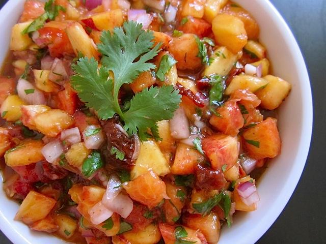 peach salsa not mine but very similar i ve been a salsa nut since i ...