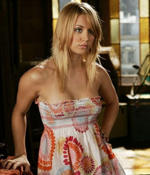 naked kaley cuoco