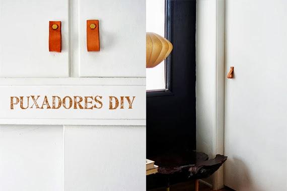 puxadores de armário - faça você mesma - ideias de puxador - puxador de couro - com personalidade