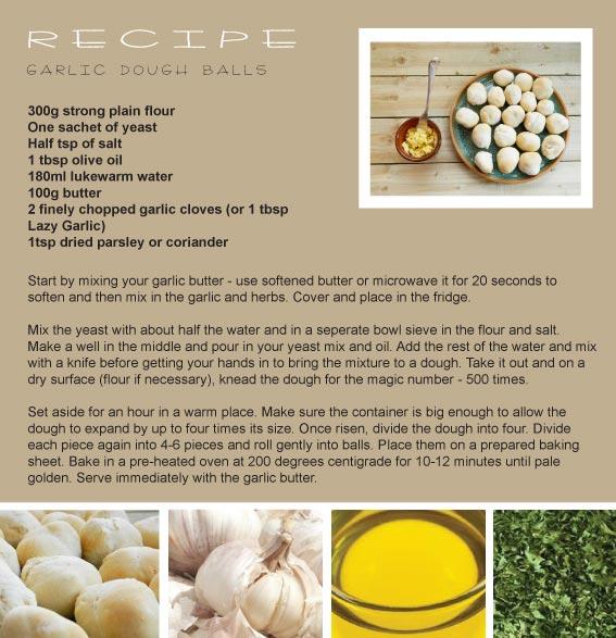 enthused monkey recipe garlic dough balls