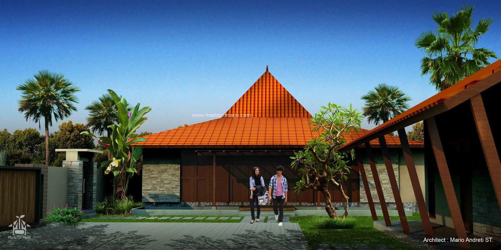 Rumah Joglo , desain rumah joglo minimalis , arsitektur rumah joglo