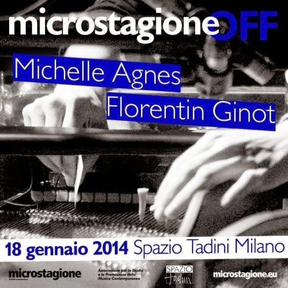 Concerti di musica contemporanea: Microstagione allo Spazio Tadini di Milano sabato 18 gennaio