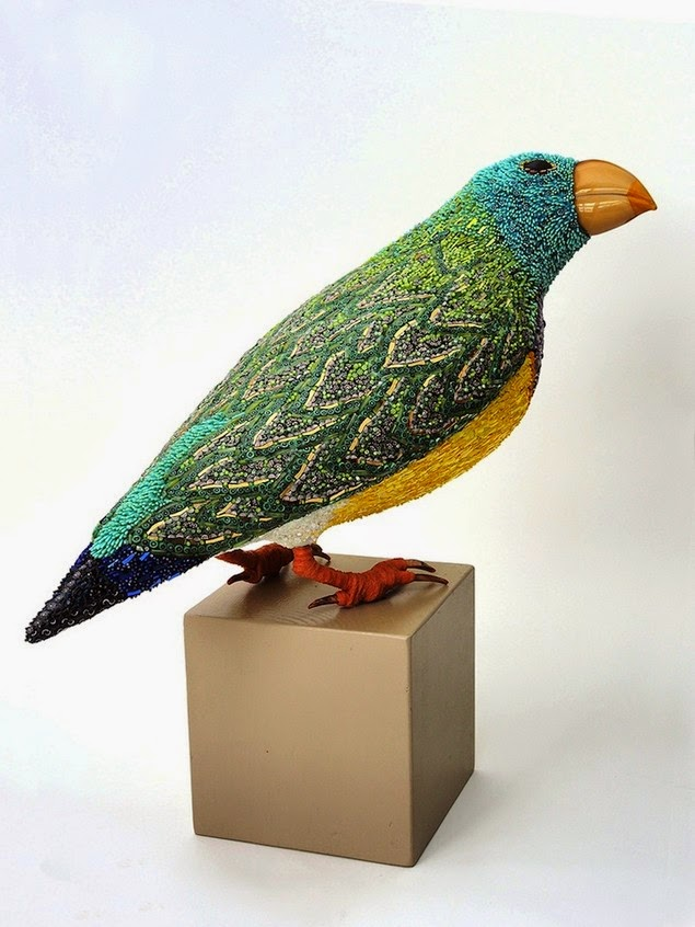 mosaic bird sculptures dusciana bravura-2