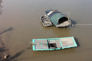 Boats on Cát Bà island