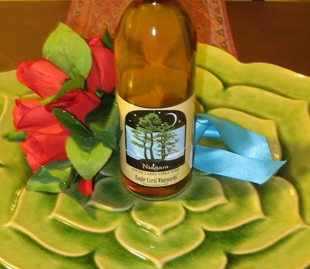 A bottle of Eagle Crest Vineyard's Niagara Wine