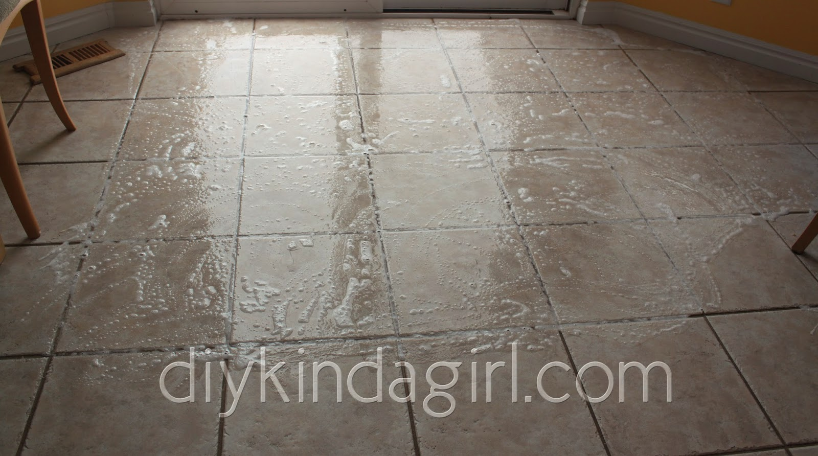 DIY Kinda Girl DIY Household Tip Cleaning Grout OxiClean Vs Woolite - Cleaning grout off porcelain tile