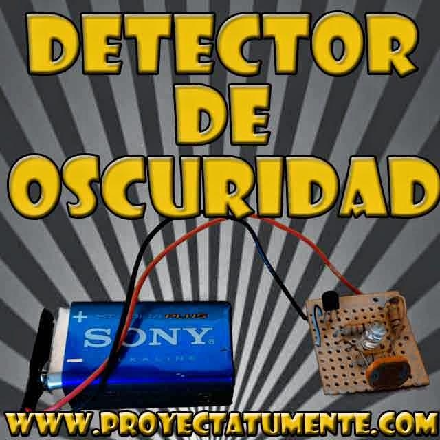 Detector de oscuridad electrónica casera