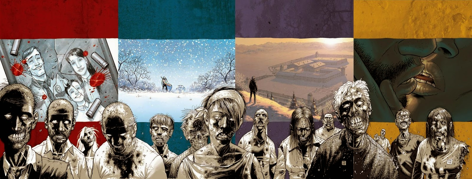 The Walking Dead - 4 cover di Tony Moore per la versione paperback