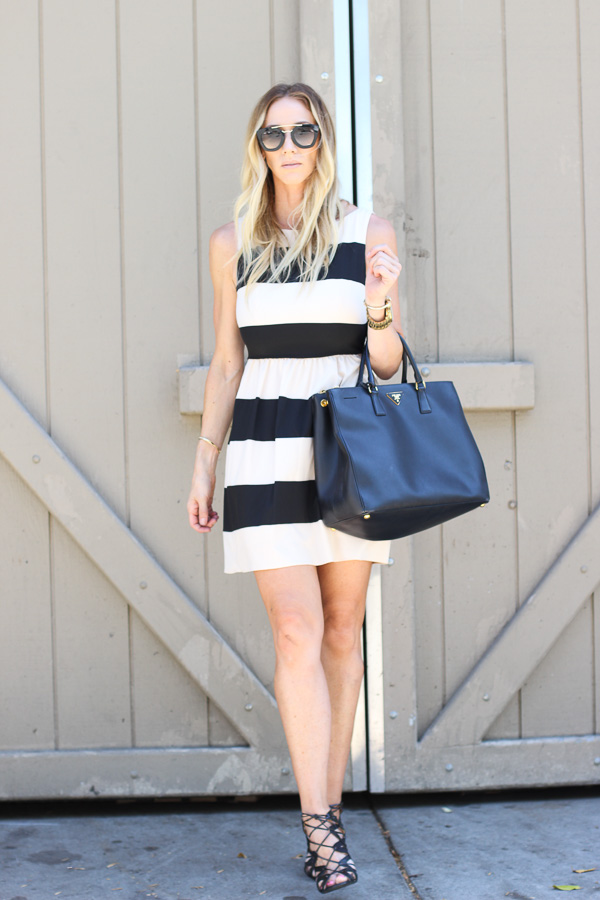 black and tan striped dress macys