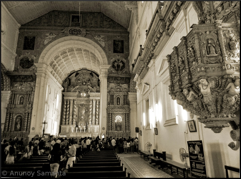 Old Goa Monuments - Basilica of Bom Jesus