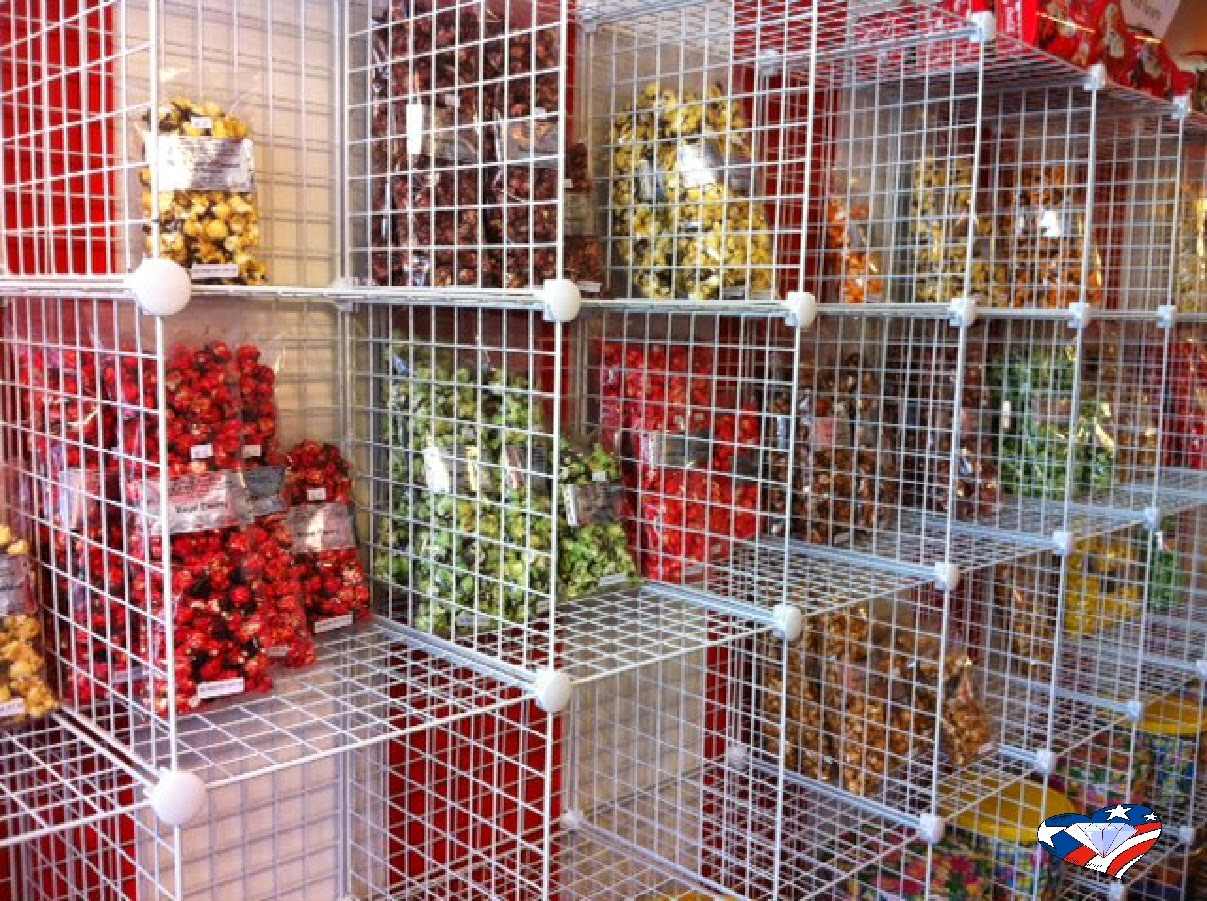 Royal Gorge Gourmet Popcorn Store in Florence Colorado.  Over 65 flavors of yummy popcorn to choose from