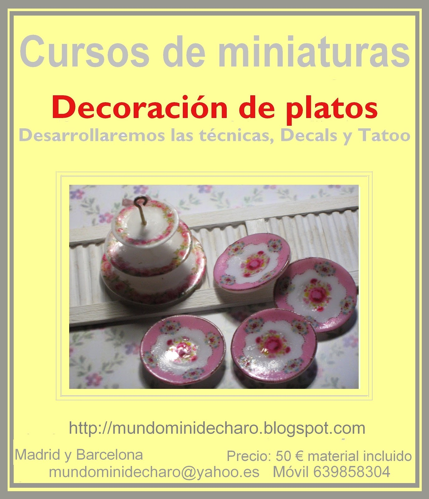 Mundomini decoraci n de platos talleres - Decoracion de platos ...