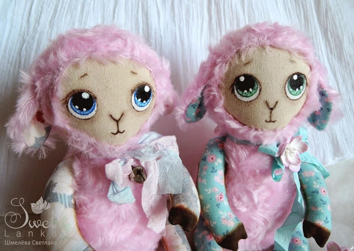 милые розовые овечки