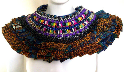 Anita Quansah african fabric Victorian piece - iloveankara.blogspot.co.uk
