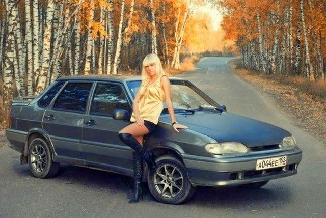 телки с русскими машинами фото
