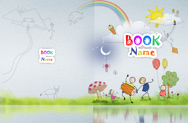 Book Cover Design Art For Kids : Children song book cover design h art